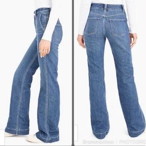 NWT j crew wide leg jean trousers size 27